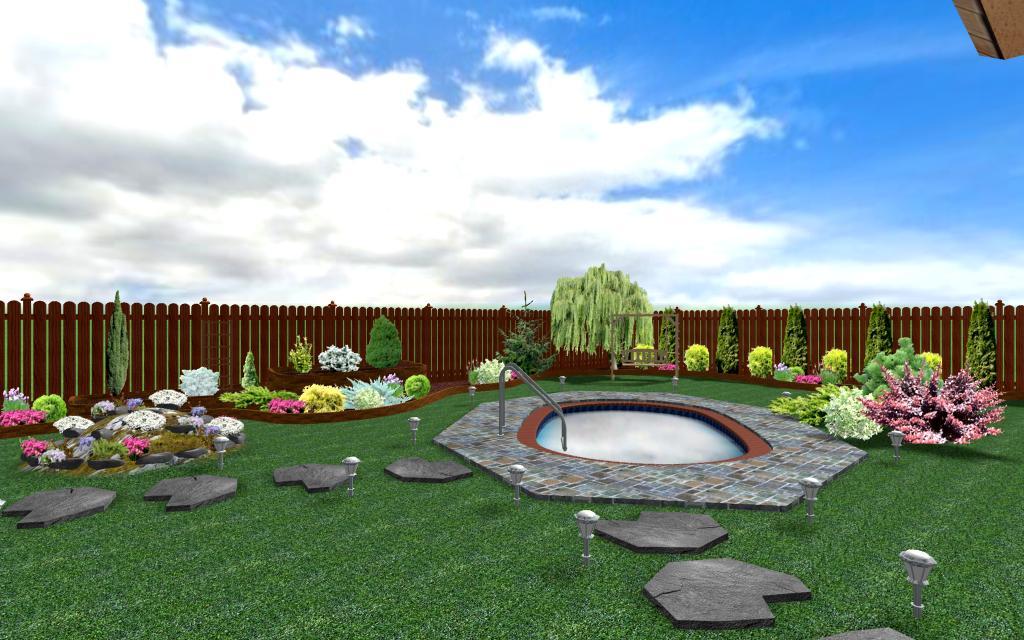 Proiect gradina 3d cu piscina amenajari gradini speciale for Amenajari piscine