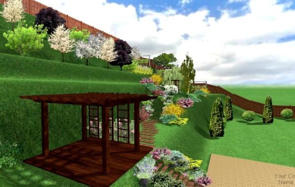 Proiect de amenajare 3D gradina – Terasare
