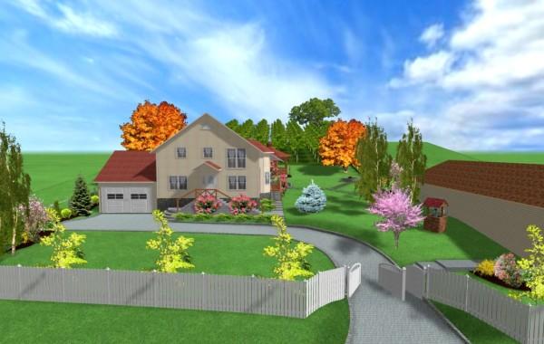 Proiect de gradina 3D in paralel cu proiectarea casei